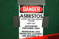 Asbestos fibres can get lodged in the lungs cause numerous diseases and death